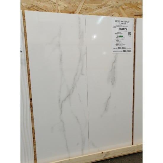 ARTISTIC WHITE BRILLO 33,3x90